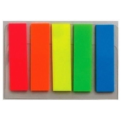 Index adeziv Eco,pp, 45 x 12 mm, set 5 x 20 file color