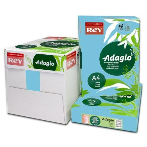 Hartie color Adagio A4, 80 gr, 500 coli/top, albastru intens