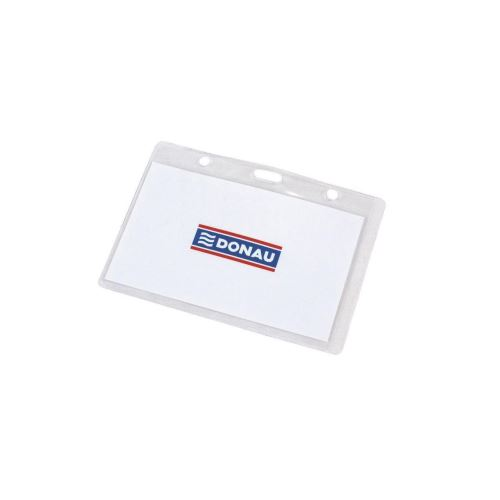 Port card orizontal DONAU, exterior 105 x 65 mm, pvc transparent