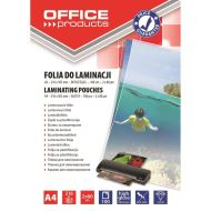 FOLIE LAMINARE A4 OFFICE PRODUCTS GLOSSY 2x80MIC, 100/TOP