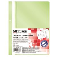 DOSAR PLASTIC OFFICE PRODUCTS CU SINA SI PERFORATII, VERDE DESCHIS