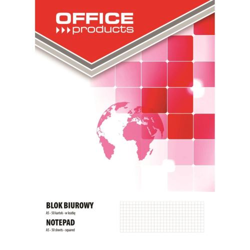 Bloc notes OFFICE Products, A5, lipit, 50 file, aritmetica