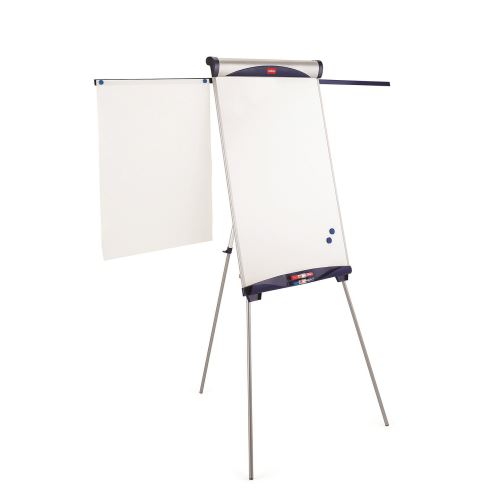 Flipchart magnetic pe trepied ajustabil Nobo Shark, 67,5 x 100 cm, brate laterale magnetice