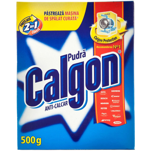 Anticalcar Calgon Protect & Clean, pudra, 500 gr