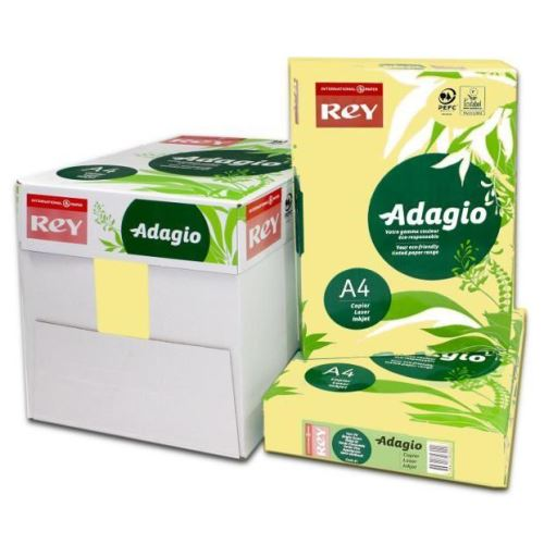 Hartie color Adagio A4, 80 gr, 500 coli/top, galben pal