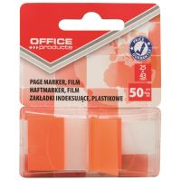Page marker din plastic cu dispenser OFFICE Products, 25 X 43 mm, 50 file, portocaliu
