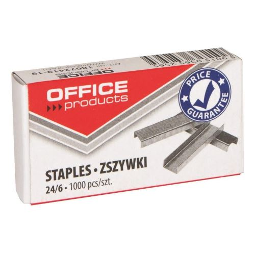 Capse zincate OFFICE Products 24/6, 1000 buc/cutie