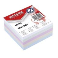 Cub hartie color OFFICE Products, 400 file, 85 x 85 x 40 mm, lipit si infoliat