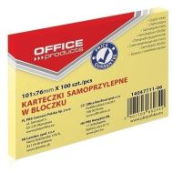 Notite adezive OFFICE Products,  101 x 76 mm, galben pal,  100 file